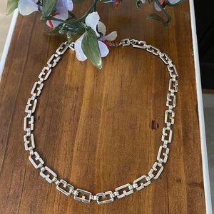 "Vintage Givenchy Logo ""G"" Links Necklace"